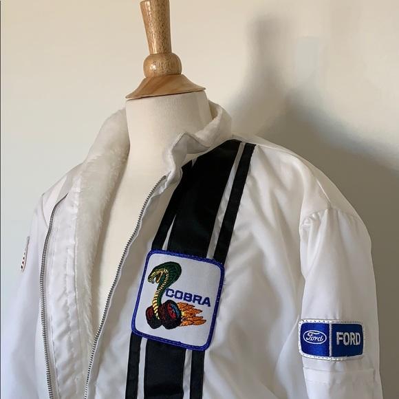 Vintage Jackets & Blazers - VINTAGE FORD COBRA SHELBY racing nylon jacket M